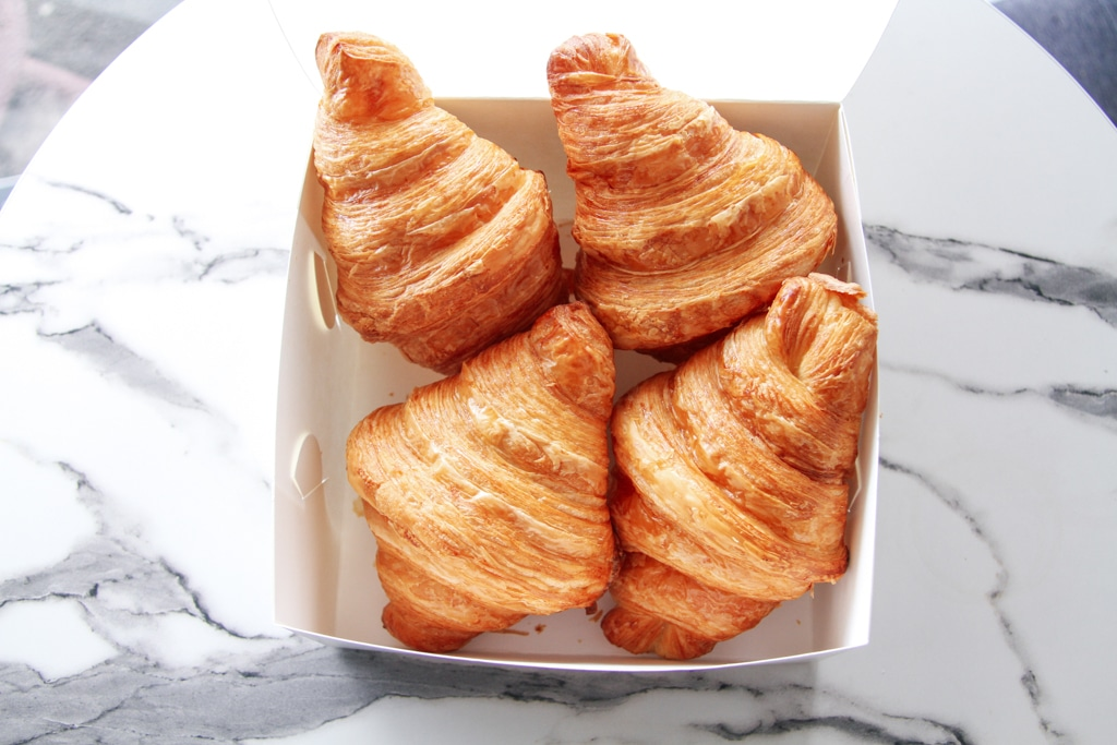 image of box of fresh croissants